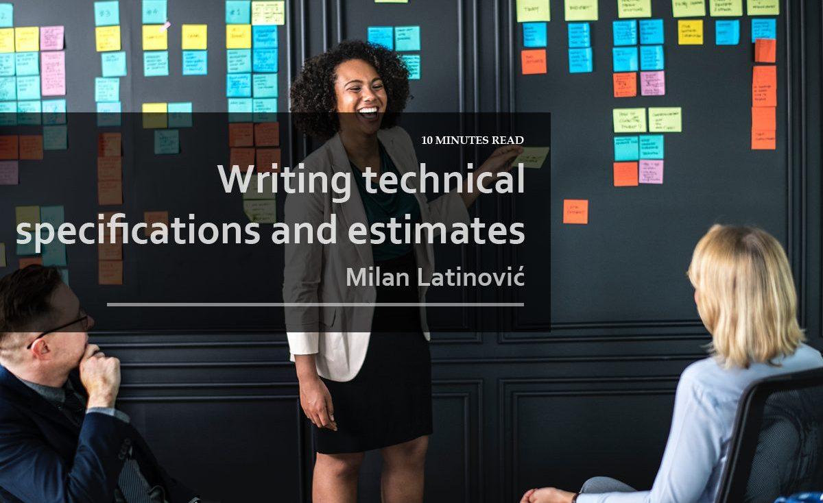writingtechnicalspecificationsandestimates